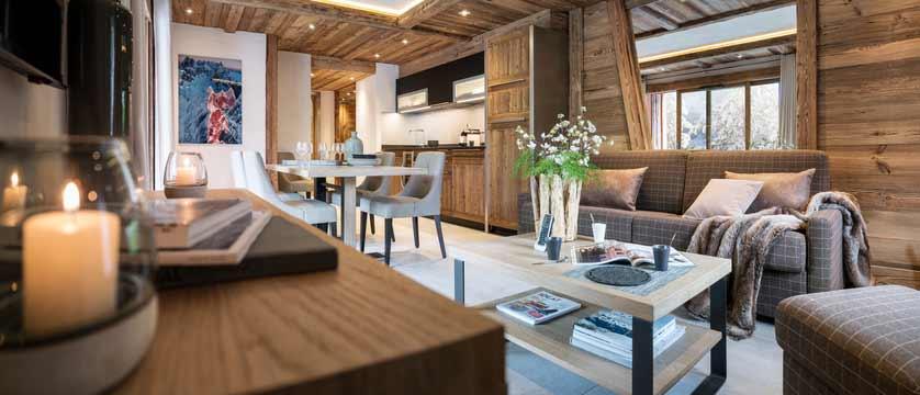 Cristal de Jade Residence, Chamonix, France - living area with kitchen.jpg